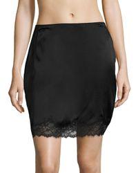 Natori Black Sleek Silk Blend Half-slip