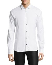 HUGO - White Ero Slim-fit Cotton Button-down Shirt for Men - Lyst