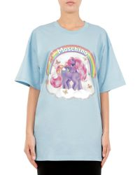 Moschino - Blue Maxi T-shirt In Cotone Little Pony - Lyst