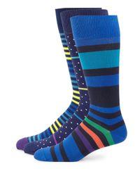 Paul Smith - Blue Printed Socks Set for Men - Lyst