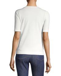 ESCADA - Women's Setnar Short-sleeve Top - White - Size Xl - Lyst