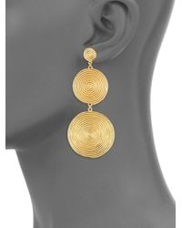 Elizabeth and James - Metallic The Sullivan Collection 24k Gold Plated Earrings - Lyst