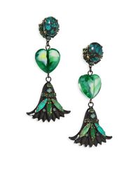 Erickson Beamon - Green Emerald City Drop Earrings - Lyst