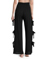 Jonathan Simkhai - Black Cotton Comb Side Tie Pants - Lyst