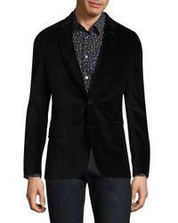 Paul Smith - Black Basic Buttoned Velvet Jacket for Men - Lyst