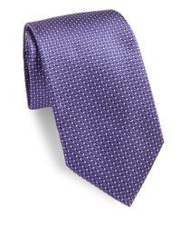 Corneliani - Purple Medallion Silk Tie for Men - Lyst