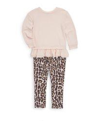 Splendid - Pink Little Girl's Top And Leopard-print Leggings Set - Lyst