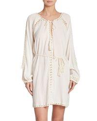 Anna Kosturova | White Giza Boho Mini Dress | Lyst