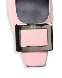Roger Vivier - Pink Belle Patent Leather Pumps - Lyst