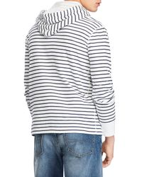 Polo Ralph Lauren - Blue Duofold Stripe Pullover Hoodie for Men - Lyst