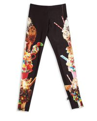 Terez - Black Girl's Graphic Print Leggings - Lyst
