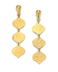 Gurhan - Metallic Clove 24k Yellow Gold Triple-drop Earrings - Lyst