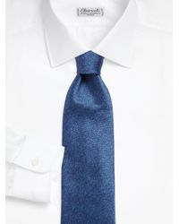 Charvet - Blue Plain Long Silk Tie for Men - Lyst