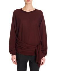 Jil Sander - Purple Wool Side Knot Sweater - Lyst