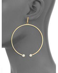 Chloé - Metallic Darcey Hoop Earrings - Lyst