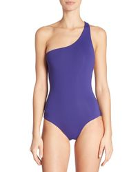 Melissa Odabash - Blue One-piece Seychelles One-shoulder Swimsuit - Lyst