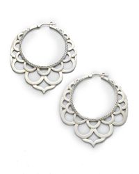 John Hardy - Metallic Naga Sterling Silver Large Lace Hoop Earrings/2.2 - Lyst