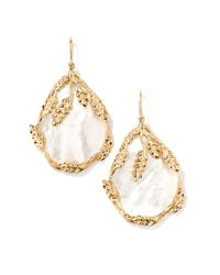 Aurelie Bidermann - Metallic Francoise Mother-of-pearl Drop Earrings - Lyst