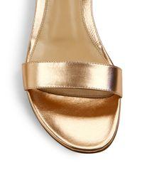 Gianvito Rossi - Multicolor Metallic Leather Ankle-strap Sandals - Lyst