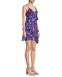 Parker - Blue Holly Floral Ruffle Dress - Lyst