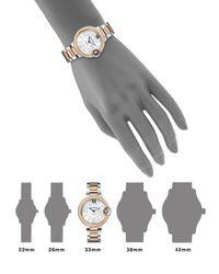 Cartier - Pink Ballon Bleu De Diamond Rose Gold  Stainless Steel Watch - Lyst