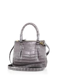 Nancy Gonzalez - Gray Crocodile Mini Pliss & #233 Crossbody Bag - Lyst