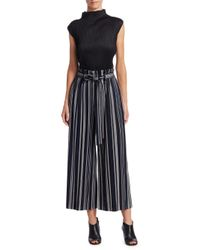 Pleats Please Issey Miyake - Blue Cheerful Cropped Wide-leg Pants - Lyst