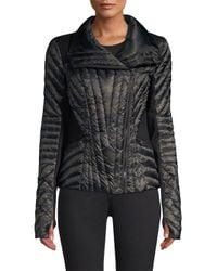 BLANC NOIR - Black Motion Panel Puffer Jacket - Lyst