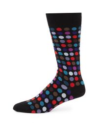 Paul Smith - Black Multi Dot Socks for Men - Lyst