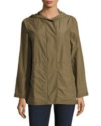 Eileen Fisher | Green Hooded Jacket | Lyst