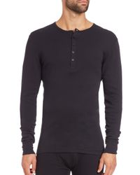 2xist | Black Long-sleeved Cotton Shirt for Men | Lyst