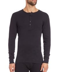 2xist - Black Long-sleeved Cotton Shirt for Men - Lyst