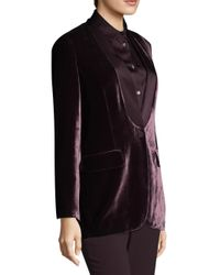 Piazza Sempione - Black Button-front Velvet Jacket - Lyst