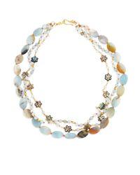 Chan Luu - Metallic Three-strand Amazonite & Abalone Necklace - Lyst