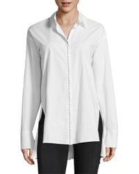 ESCADA - White Narty Cotton Blouse - Lyst