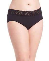 Hanky Panky - Black Plus Size Cotton French Brief - Lyst