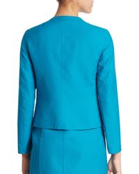 Akris - Blue Hadrian Cotton Double Face Jacket - Lyst