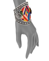 Valentino - Metallic Native Couture Large Cuff - Lyst