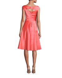 Kay Unger - Blue Paneled A-line Dress - Lyst