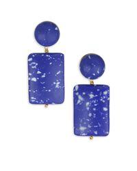 Lele Sadoughi - Blue Women's Mosaic Garden Keepsake Stone Post Earrings - Cobalt - Lyst