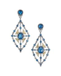 Konstantino - Metallic Thalassa London Blue Topaz, 18k Yellow Gold & Sterling Silver Chandelier Earrings - Lyst