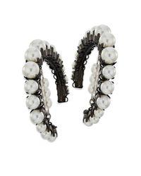 Erickson Beamon - Black Solidarity Faux-pearl Hoop Earrings - Lyst