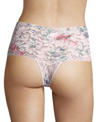 Hanky Panky - Pink Cherie Retro Lace Thong - Lyst