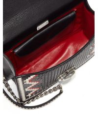 Prada - Red Madras Woven Leather Chain Bag - Lyst