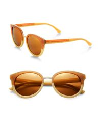Tory Burch - Brown Oversized Round Sunglasses - Lyst