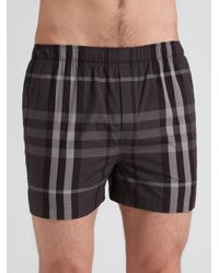 Burberry - Gray Check Boxers/2-Pack for Men - Lyst