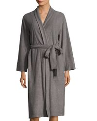 Natori - Gray Brushed Spa Terry Robe - Lyst