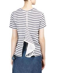 Sacai - Blue Dixie Striped Tee - Lyst