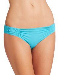 L*Space - Blue Shirred Bikini Bottom - Lyst