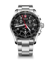 Victorinox - Metallic Chrono Classic Xls Stainless Steel Chronograph Bracelet Watch - Lyst